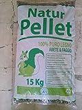 Pellet 6 sacchi da 15 kg cadauno misto faggio e abete potere calorico kwh/kg 5.27