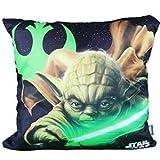 Star Wars Yoda Kissen 40x40cm Waschmaschinenfest Clone Wars Jedi Darth Vader Stormtrooper