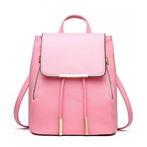 Zainetto da donna, borsa a tracolla in similpelle Pink Medium