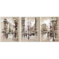 MagiDeal Moderno Impresiones Pintura de óleo de Lona Colgante de Pared Arte Decoración de Hogar Sala Hotel en Diferentes Tamaños - Calle de la Ciudad L