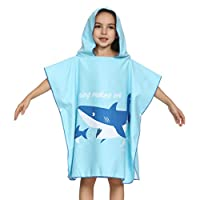 Boys Girls Cotton Hooded Beach Bath Towel Super Soft Childrens Swimming Bathrobe Blanket for Kids Children