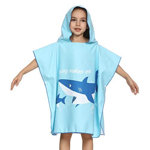 Bademantel für Jungen und Mädchen, mit Kapuze, superweich, für Kinder, (Einfach Rapunzel Kostüm)
