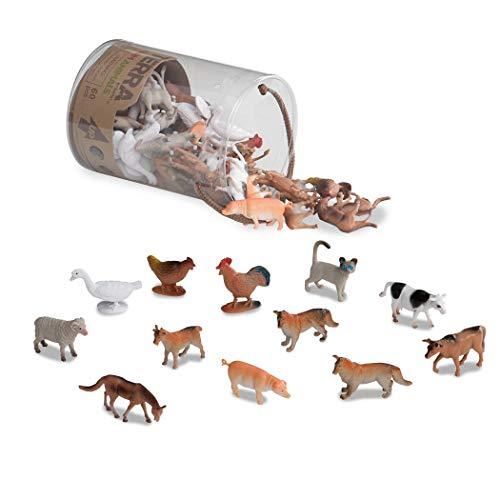 Terra AN6001Z - Bauernhoftiere in der Dose, Spiel, Mehrfarbig - Spielzeug-bauernhof-gebäude