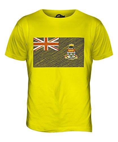 CandyMix Cayman Islands Kritzelte Flagge Herren T Shirt Zitronengelb
