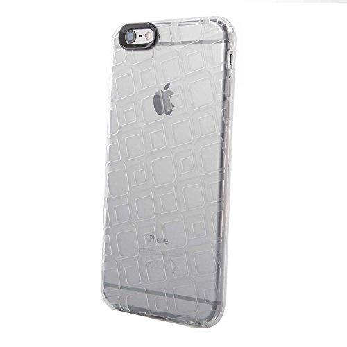 FINOO® | Square Custodia in silicone cellulare, trasparente, Iphone 6/6S Plus trasparente