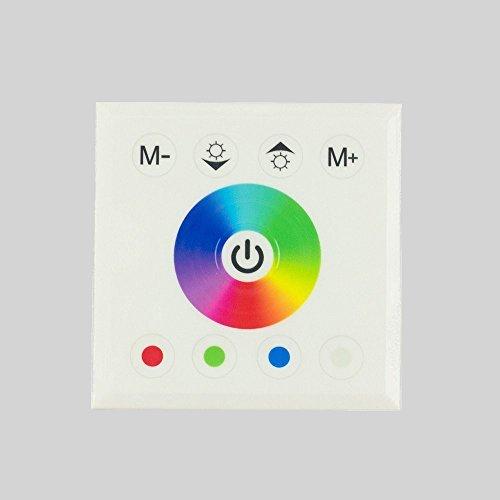 Controleur LED RGB RGBW tactile encastrable 12V-24V interrupteur gradateur variateur pour ruban LED bande LED