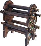 diseño único indio hecho a mano Seis pulsera de madera plegable Barras de apoyo, soporte del brazalete, regalo para la Navidad o de cumpleaños