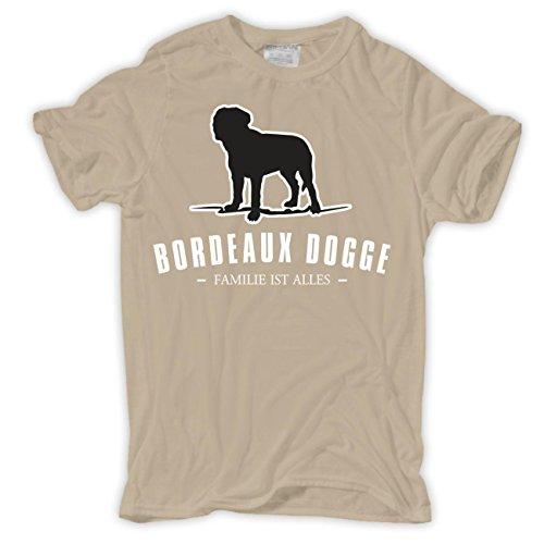 Männer und Herren T-Shirt Bordeaux Dogge - Familie ist alles Sand