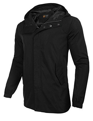 Coofandy Mens Waterproof Jacket Hooded OutDoor Raincoat Kagool Climbing/Hiking Coat