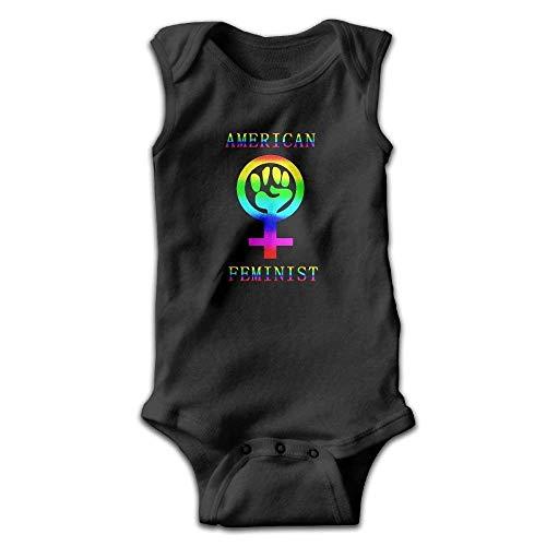AZGNHM Rainbow American Feminist Onesies Bodysuits
