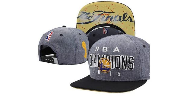30a6d67ed29 Golden State Warriors 2015 NBA Finals Champions Locker Room Snapback Hat -  Gray Black - GET IT FIRST!  Amazon.co.uk  Sports   Outdoors