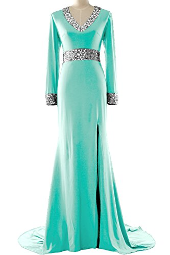 MACloth - Robe - Moulante - Manches Longues - Femme Vert - Menthe