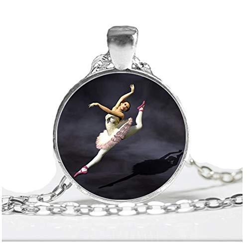 kette Ballerina-Porträt-Tänzer-Hängende Schmucksachen Schwarz-Weiße Ballett-Tänzer-Kunst-Foto-Glashalsketten ()