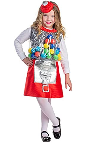 Dress Up America - 749-L - Déguisement de machine à bonbons - 12-14ans - taille 127-145cm - Multicolore