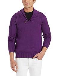 Puma Mens Wool Sweater (4053985468279_56782302_Medium_Plum)