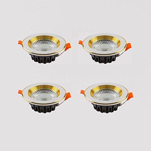 OOFAY LIGHT® Satz von 4, 30W LED Deckenspot, 120 Lumen COB Innen Deckenleuchte Downlight für Bade, Küchen, Wohnzimmer , A , warm white 3000K