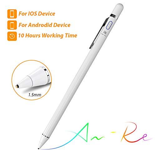 Stylus Stift Eingabestift Touchstift Touch Pen für iPhone iPad Smartphone Tablet 1,5mm Feine Spitze 10 Stunden Arbeitszeit Aufladbar Alternative zum Originalprodukt Notizen Zeichnen Schreiben Spielen