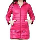 MEIbax Damen Leichtgewichtige Packable Daunenmantel Stehkragen Lange Daunenjacke Dicker Winter Slim Down Jacke Übergangsjacke