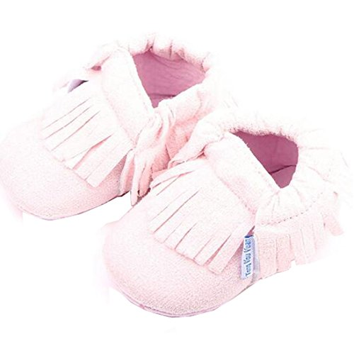 Yuan Rosa Sapatos De Baby Couro Meninos Rosa borla infantil Sapatos Estrela Únicos ® Criança Suaves Sorte Centímetros Meninas Da 11 dwHq48d