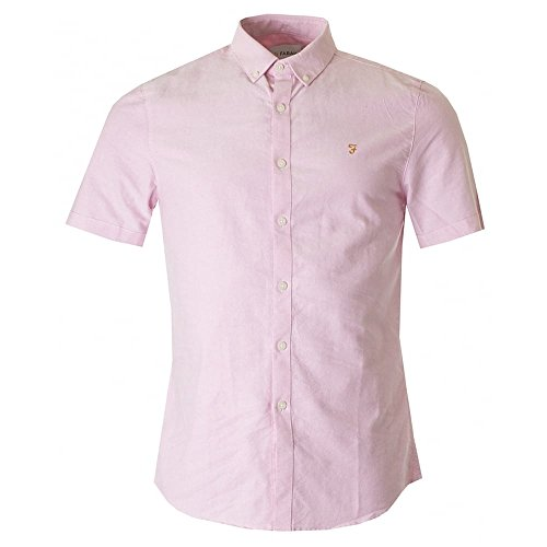 Farah Brewer Slim Fit - Chemise Casual - Homme Rose