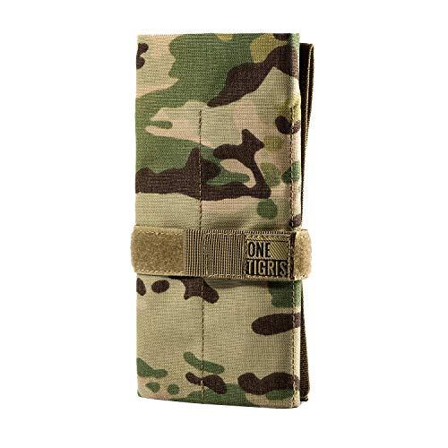 OneTigris Tactical Roll-Up-Werkzeugtasche mit 12 Taschen - Handwerkzeug-Organizer Aufbewahrungstasche, multicam Messer Storage Roll