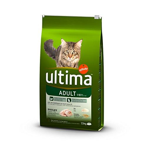 Ultima Croquettes pour Chat Adulte Poulet et Riz 7,5 kg - Lot de 2