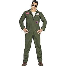 Fiestas Guirca 80803Combinaison d'aviateur de type Top Gun, pour adultes, vert, taille L