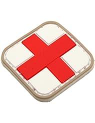 Rojo Medic Airsoft Velcro PVC Parche