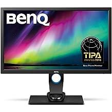 """BenQ SW2700PT - Monitor para fotógrafos (27"""" 2K QHD, 2560x1440. 99 % Adobe, con tecnología IPS, calibración del color del hardware,ajuste en altura, controlador OSD, DVI-DL/HDMI 1.4/DP1.2), color negro"""