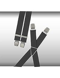 Bretelles gris de Lindenmann avec clips, extra large
