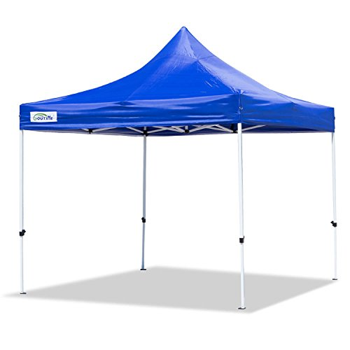 Goutime Carpa Plegable 3x3M,gazebo pop-up impermeable azul