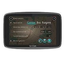 """TomTom GO Professional 520 Navigatore Satellitare per Camion, Autobus, Furgone, Navigazione Professionale per Veicoli di Grandi Dimensioni, Connessione tramite Smartphone, Nero, 5"""""""