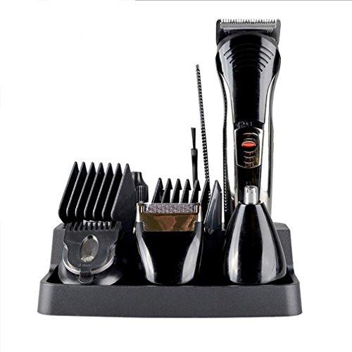 aufladbare All-Over-Pflege-Set, Risingmed Ecletic Grooming Kit mit Haarschneidern, Schnurrbart Bärte Rasierer Trimmer, Nasenhaar und Eyebow Trimmer (Schnurrbart Kits)