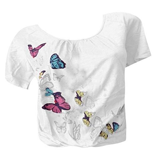 Wtouhe Femme Hauts,2019 ÉTé T-Shirt Imprimé à Manches Courtes Et à La Mode pour Femmes Chemises Dames Pas Cher Basiques Dames Party Tops Dessus De SoiréE Paillettes Casual O-Cou Blouse Haut To
