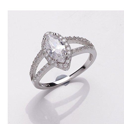 Plata Zirconia cúbico anillo cuchufleta