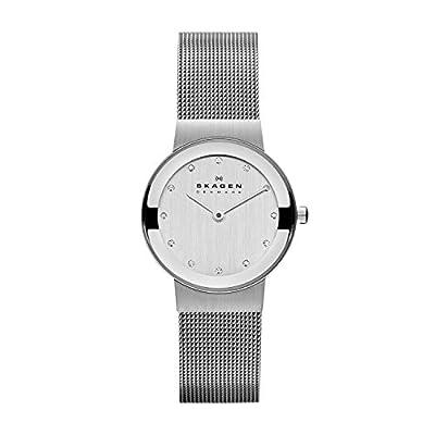 Skagen Slimline 358SSSD - Reloj de caballero de cuarzo, correa de acero inoxidable color plata de Skagen