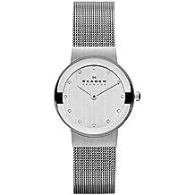 Skagen Slimline 358SSSD - Reloj de caballero de cuarzo, correa de acero inoxidable color plata