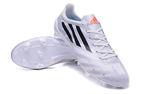 Andrew chaussures générique pour homme Adizero FG Bottes de Football Blanc