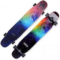 DUXX Longboard 24.5 CM Planche à roulettes Freeride Skate Boards pour débutants et Professionnels Bleu Planche complète avec roulements à Grande Vitesse 118