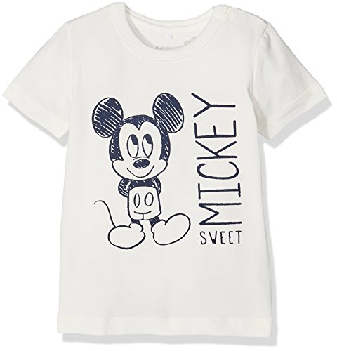 NAME IT Unisex Baby T-Shirt Nitmickey Rene SS Top Uni Mznb Wdi, Weiß (Print:PINK DOGWOOD), Gr. 68 - Mickey Mouse T-shirt Top
