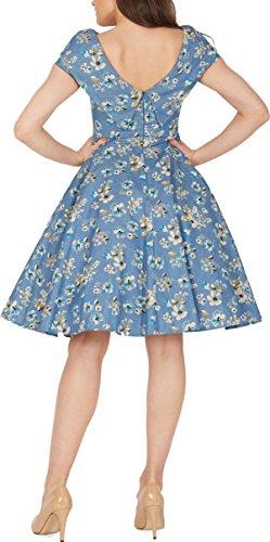 BlackButterfly 'Serena' Vintage Eden Kleid im 50er-Jahre-Stil (Denim, EUR 50 – 4XL) - 3