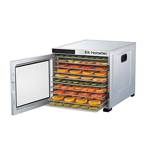 Essiccatore con regolatore di temperatura, in acciaio inox, 10 livelli, per alimenti, frutta, carne, frutta, asciugatrice