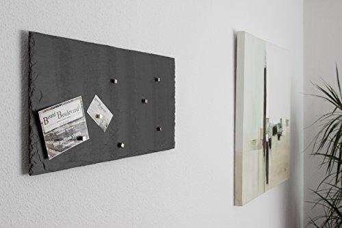 Ardoise Tableau magnétique (Pierre en massif véritable). 60 cm x 30 cm – Tableau + craie Tableau avec 7 aimants Boulevard