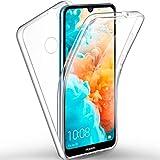 ivencase Coque Huawei Y6 2019, Huawei Y6 2019 Transparent Housse Silicone TPU Gel et PC Rigide 360 Degres Protection Anti Choc Full Body Etui Case pour Huawei Y6 2019