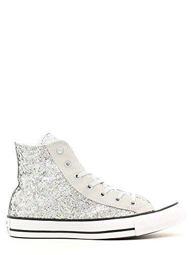 Converse Chuck Taylor Hi Glitter damen, wildleder, sneaker high Silver/Mouse