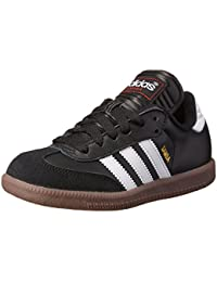 adidas Samba Classic Leather Soccer zapatos (Toddler/Little Kid/Big Kid),negro/Running blanco,11.5 M US Little Kid