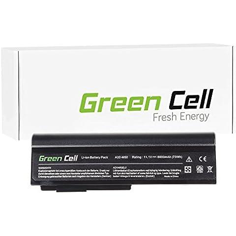Green Cell® Extended Serie Batería para Asus X5MJG-SX075V Ordenador (9 Celdas 6600mAh 11.1V Negro)