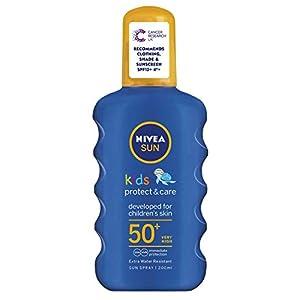 Nivea sun – Spray de loción solar para niños con, factor de protección solar 30, larga duración, resistente al agua, con color, 200ml