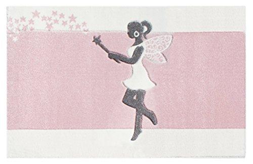 Kinderteppich Happy Rugs ZAUBERFEE rosa 120x180 cm