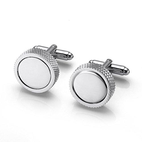 A.P. Donovan - Manschettenknöpfe aus Edelstahl - für besondere Anlässe (verschiedene Modelle für das Hemd) - elegantes Design für die Hochzeit - Wheel Silver